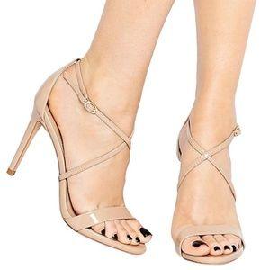 Steve Madden Feliz Strappy Nude Sandal Heels Pumps